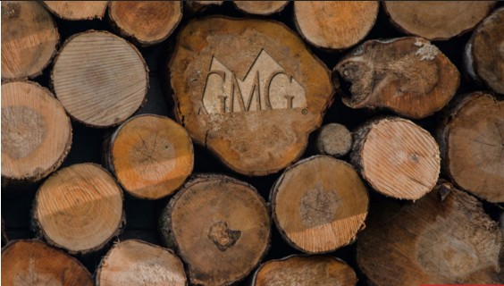 GMG logo hout